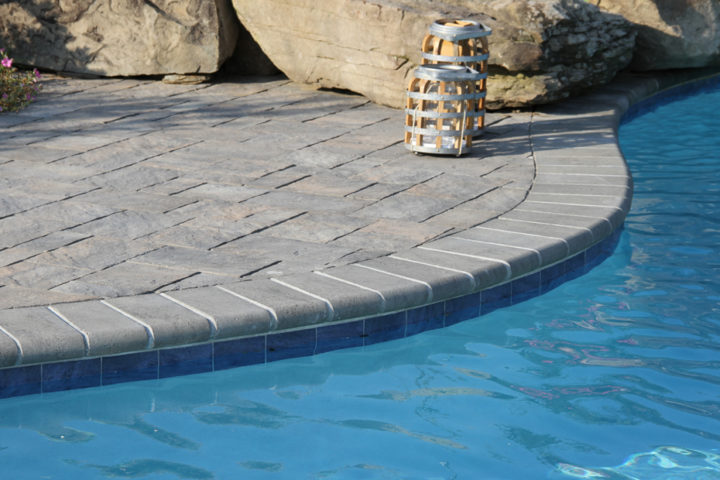 Coping in Granite | Terrace Stone Pavers in Mountain Ridge