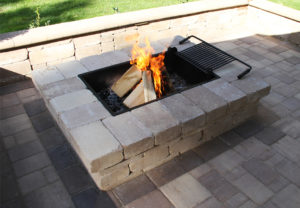Yorkshire Rectangle Fire Pit in Coastal Tan
