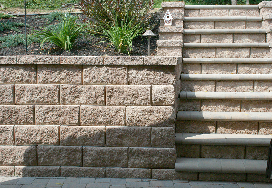 Regal Stone Pro RockFace Wall & Coping Pavers in Coastal Tan