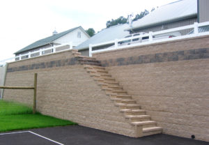 Regal Stone Pro Straight Wall in Coastal Tan with Fieldstone Detail