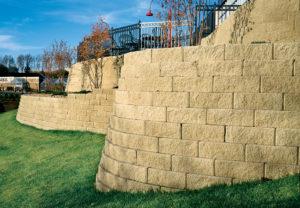 Regal Stone Straight Wall in Coastal Tan
