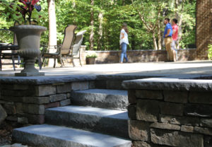 Rock Face Landscape Step & Wall Cap in Charcoal