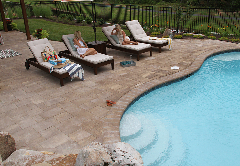 York Tile & Coping Pavers in Coastal Tan