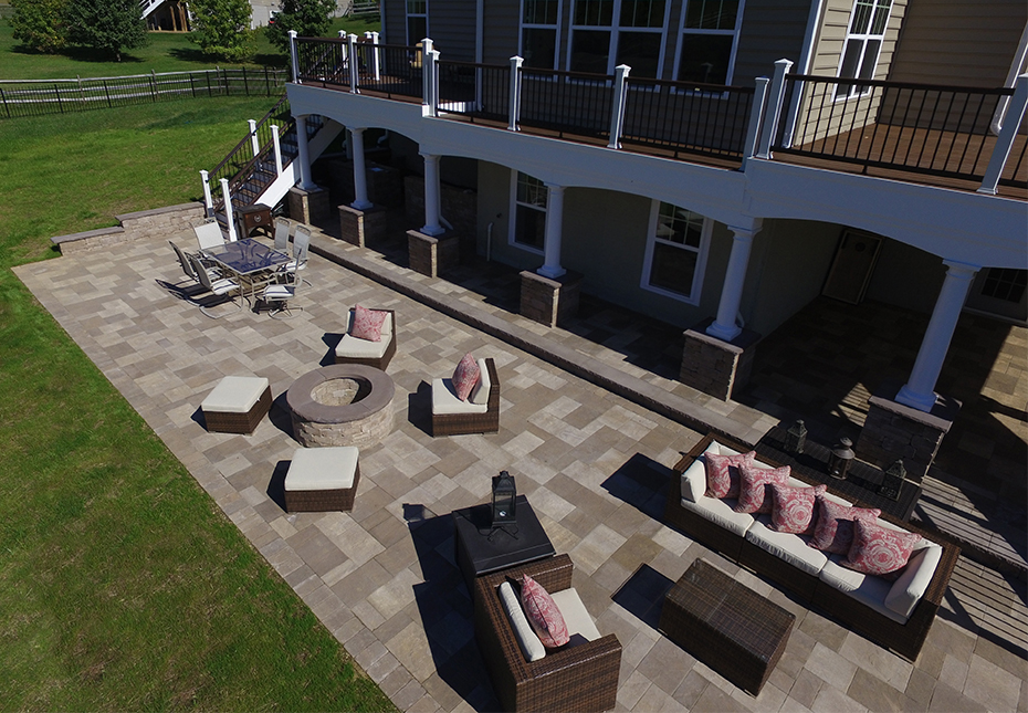 York Tile Pavers in Mesquite & Coastal Tan Mixture