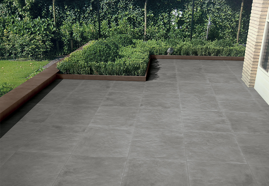 24x24 Slabs in Simply Grey