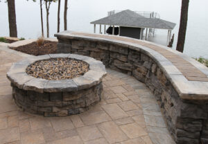 Belvedere Wall & Belvedere Fire Pit in Canyon