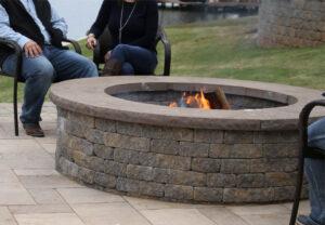 Stoneledge Fire Pit in Fieldstone