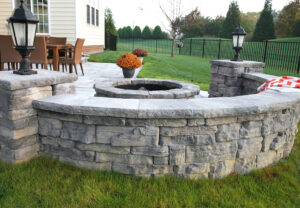 Belvedere Wall, Dimensional Coping & Dimensional Column Caps in Canyon