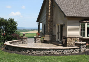 Belvedere Wall & Dimensional Coping & Column Caps in Saddle
