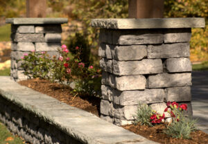 Dimensional Wall & Dimensional Coping & Column Caps in Canyon