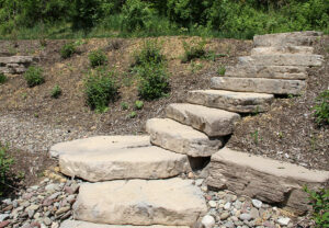 Irregular Steps in Canyon