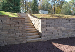 Kodah Wall, Dimensional Steps & Dimensional Coping in Canyon