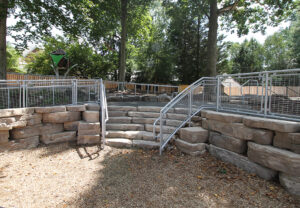 Outcropping Wall & Irregular Steps in Saddle