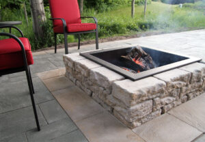 Dimensional Square Fire Pit in Canyon